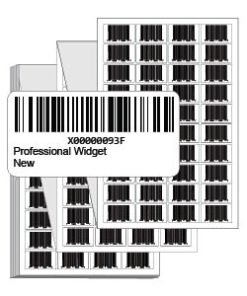 Preprinted Labels w/FNSKU Barcode - Fanfold